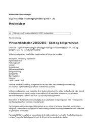Meddelelser Virksomhedsplan 2002/2003 - Skat og borgerservice