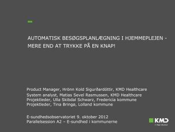 KMD Healthcare - E-sundhedsobservatoriet