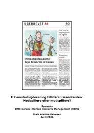 HR-medarbejderen og tillidsrepræsentanten ... - Niels K. Petersen