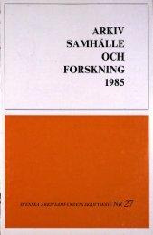 arkiv samhälle och forskning 1985 - Visa filer