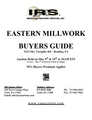 EASTERN MILLWORK BUYERS GUIDE 3222 Oley ... - IRS Auctions!