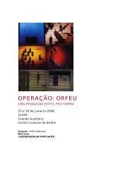 OPERAÇÃO: ORFEU.pdf - Centro Cultural de Belém