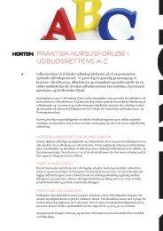 praktisk kursusforløb i udbudsrettens az - Udbudsportalen