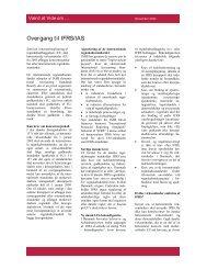 Centrale forskelle mellem IFRS og ÅRL
