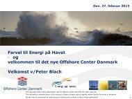 Offshore Center Danmark - Energi på havet