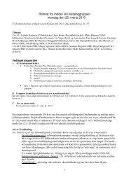 Referat fra møde i AU-kataloggruppen mandag den 22. marts 2010