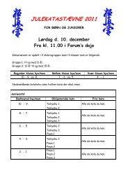 JULEKATASTÆVNE 2011 - Farum Kyokushin Karate