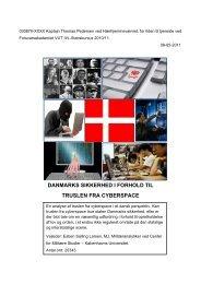 danmarks sikkerhed i forhold til truslen fra cyberspace