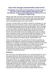 Kopi af det, der ligger på hjemmesiden under Au Pair - Den danske ...