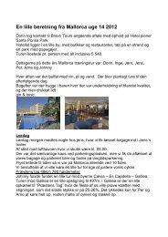 En lille beretning fra Mallorca uge 14 2012 - haslevcm.dk