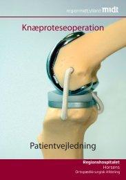 Træningsvejledning efter knæalloplastik 0 - 6. uger