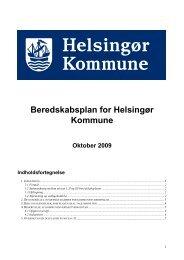Kommunens Beredskabsplan - Helsingør Ungdomsskole