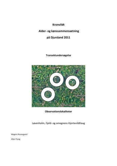 Kronvildt Alder- og kønssammensætning på Djursland 2011