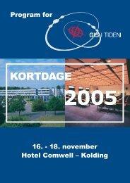 De Danske Kortdage 2005 - Geoforum Danmark