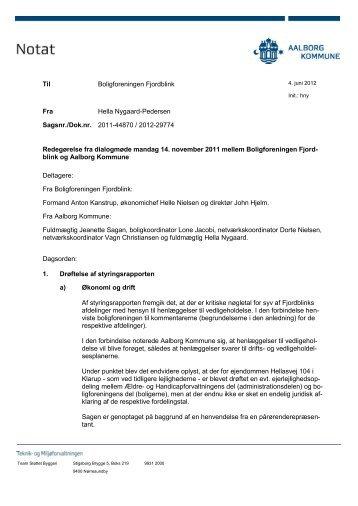 Boligforeningen Fjordblink - Aalborg Kommune