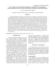evaluation of apparent digestibility coefficients of different dietary ...