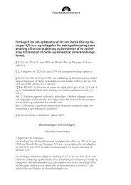 Forslag til lov om ophævelse af lov om Dansk ... - Finansministeriet
