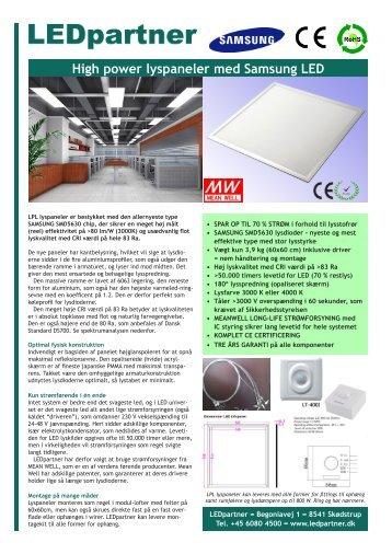 LPPL LED lyspaneler 010313.pdf - LEDpartner