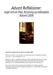 Advent Refleksioner 2009 - Sankt Laurentii Kirke