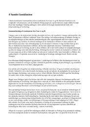 Kapitel 4: Samlet konklusion - Naturstyrelsen