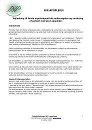 Ergoterapeutisk vurdering - KCKS-vest