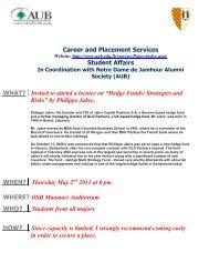 Presentation - American University of Beirut