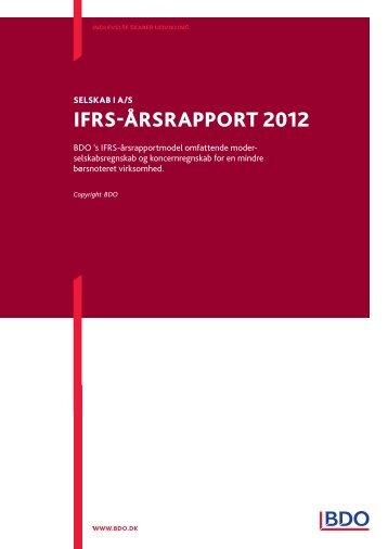 Se vores IFRS-årsrapportmodel, ajourført pr. 2012 (dansk ... - BDO