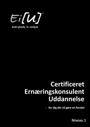 Niveau 1 Certificeret Ernæringskonsulent Uddannelse - eiu.dk