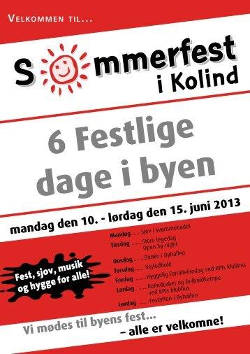 sommerfest 2013 program - Kolind-borger.dk