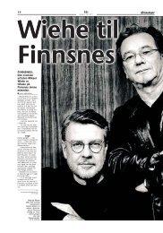14 FRI FINNSNES: Den svenske artisten Mikael ... - Dyrøy kommune