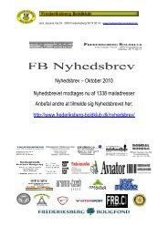 Nyhedsbrev – Oktober 2010 Nyhedsbrevet modtages nu af 1338 ...