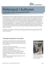 elevmateriale vgs_Holocaust i kulturen.pdf - HL-senteret
