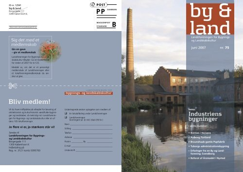 By & Land - Juni 2007.pdf - Bygningskultur Danmark