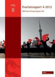 Kvartalsrapport 4-2012 - PRE Management