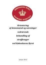 Orientering af domsmænd og nævninger vedrørende ... - Domstol.dk