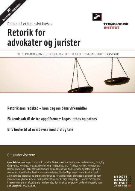 Retorik for advokater og jurister - Anne Katrine Lund