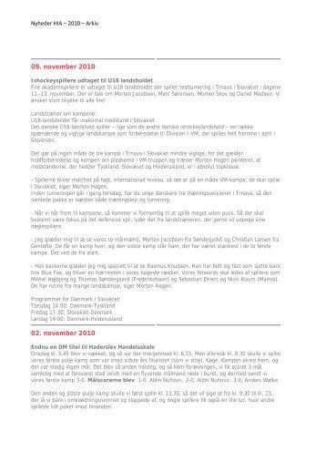 Hent samlet oversigt over nyheder 2010 her - Haderslev ...