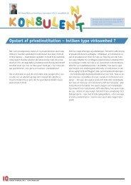 Opstart af privatinstitution – hvilken type virksomhed ? - Elbo