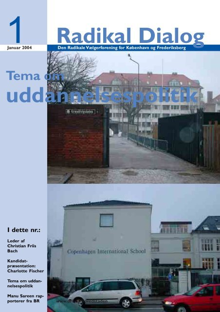 Radikal Dialog uddannelsespolitik - Radikale Venstre