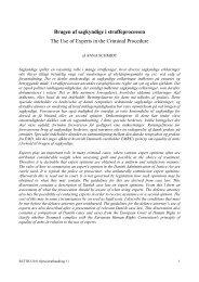 Brugen af sagkyndige i straffeprocessen The Use of ... - Juridisk Institut