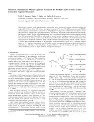 Quantum Chemical and Master Equation Studies of the - Macalester ...