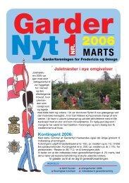 GarderNyt 1 • 2006 - Garderforeningen for Fredericia & Omegn