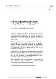 Afskedigelsessamtalen - Kjerulf & Partnere A/S