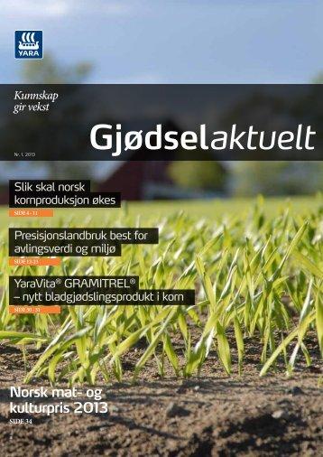 Gjødselaktuelt 1-2013 - Yara Norge