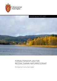 Forvaltningsplan Reddalsvann 2012-2022 - Fylkesmannen.no