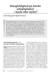 Mangfoldighed på danske arbejdspladser ... - Nyt om Arbejdsliv