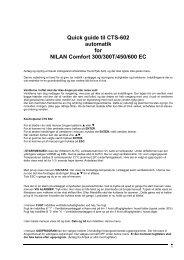 Quick guide til CTS-602 automatik for NILAN Comfort 300 ... - Airtjek.dk