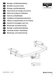 Mazda 6 Kombi Montage- und Betriebsanleitung Montážní ... - Webkat