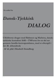 Ulfeldterne drager mod Bøhmen og Mæhren, dansk-tjekkiske ...