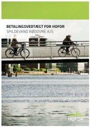 BETALINGSVEDTÆGT FOR HOFOR SPILDEVAND RØDOVRE A/S